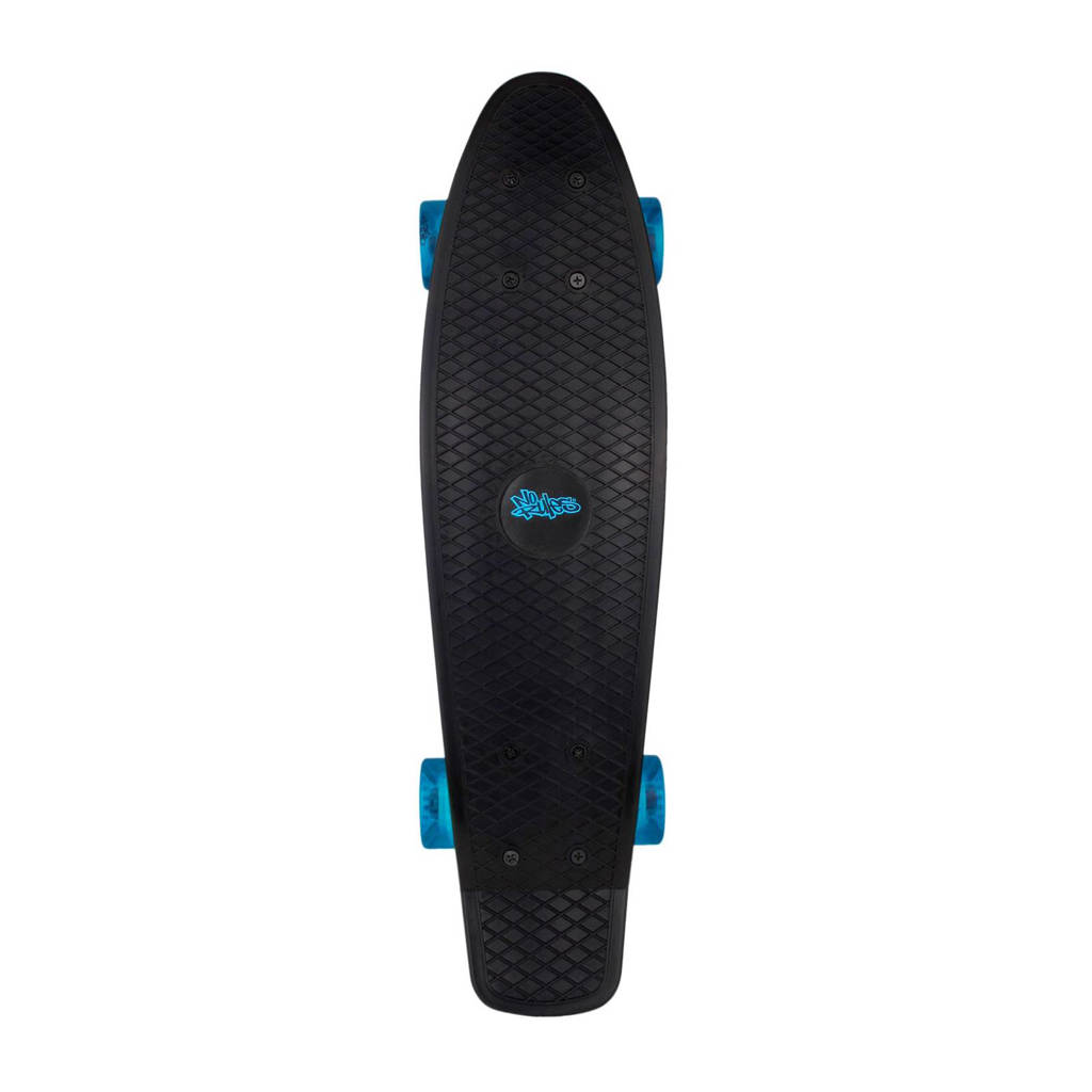 No Rules Fun penny board, Zwart