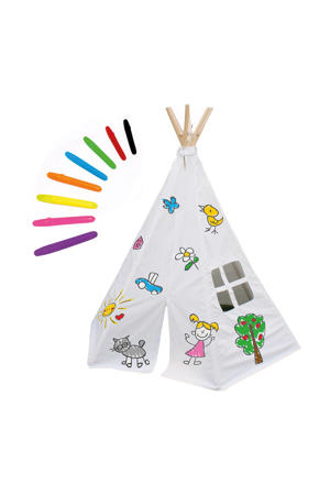 Speeltent tipi Decorate your own