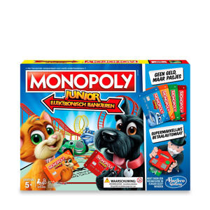 Monopoly Junior electronisch bankieren kinderspel