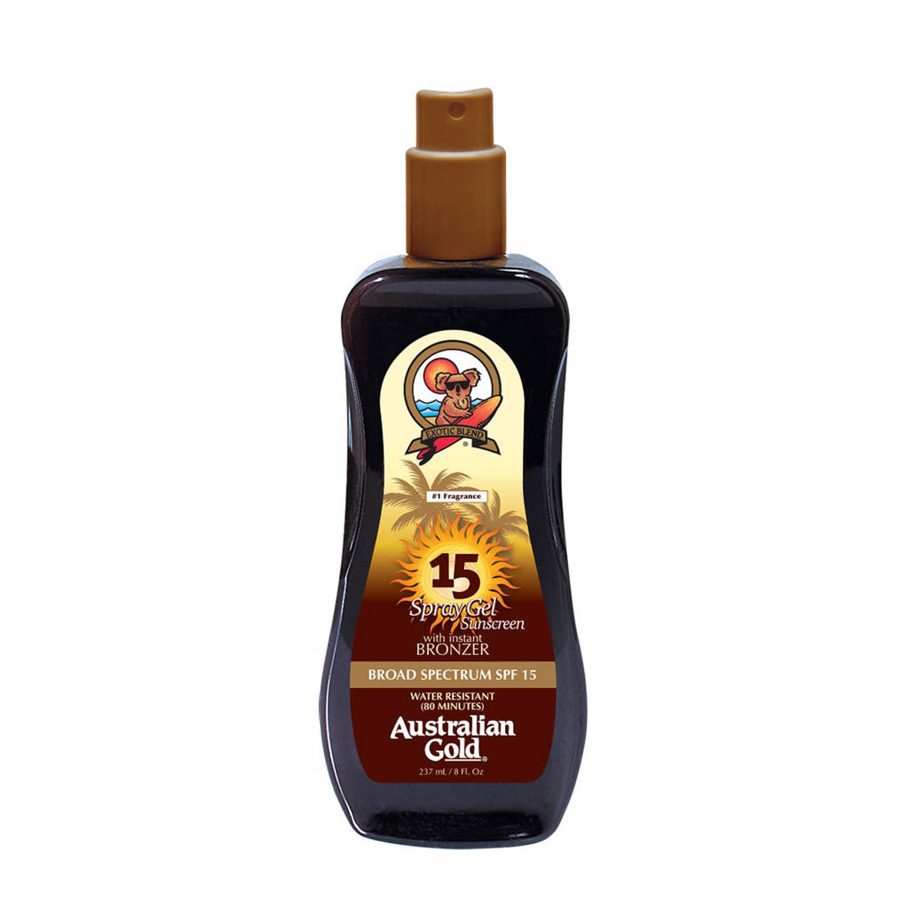 Australian Gold SPF 15 Spray Gel met Bronzer - 237 ml