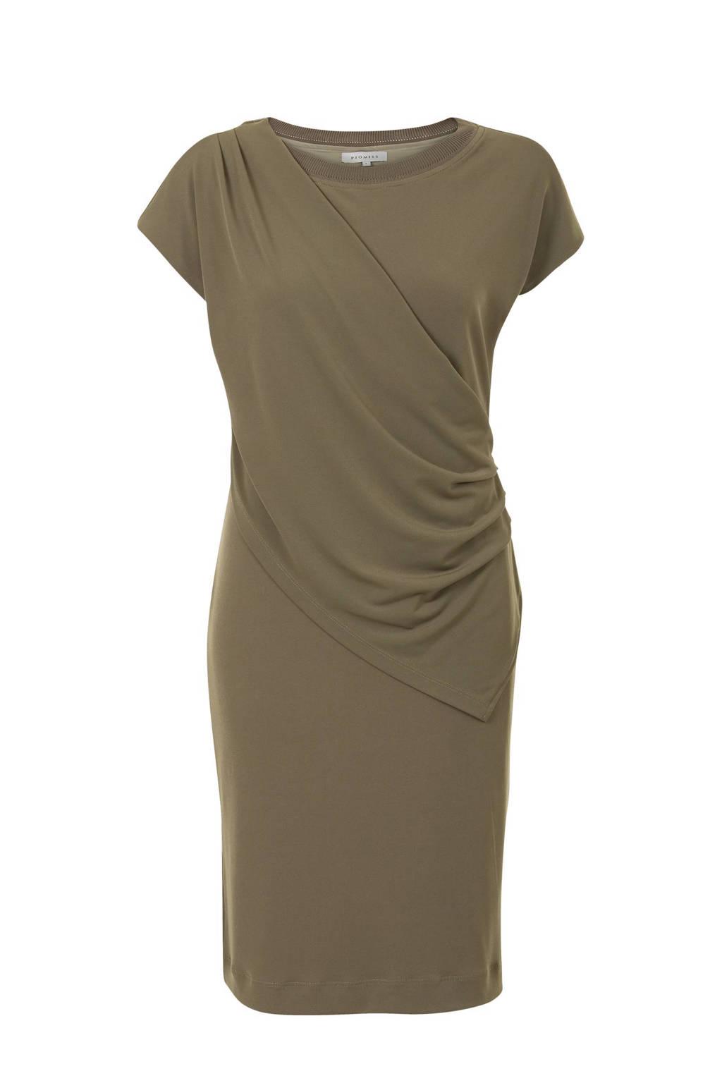 Promiss jurk olijfgroen, Olijfgroen