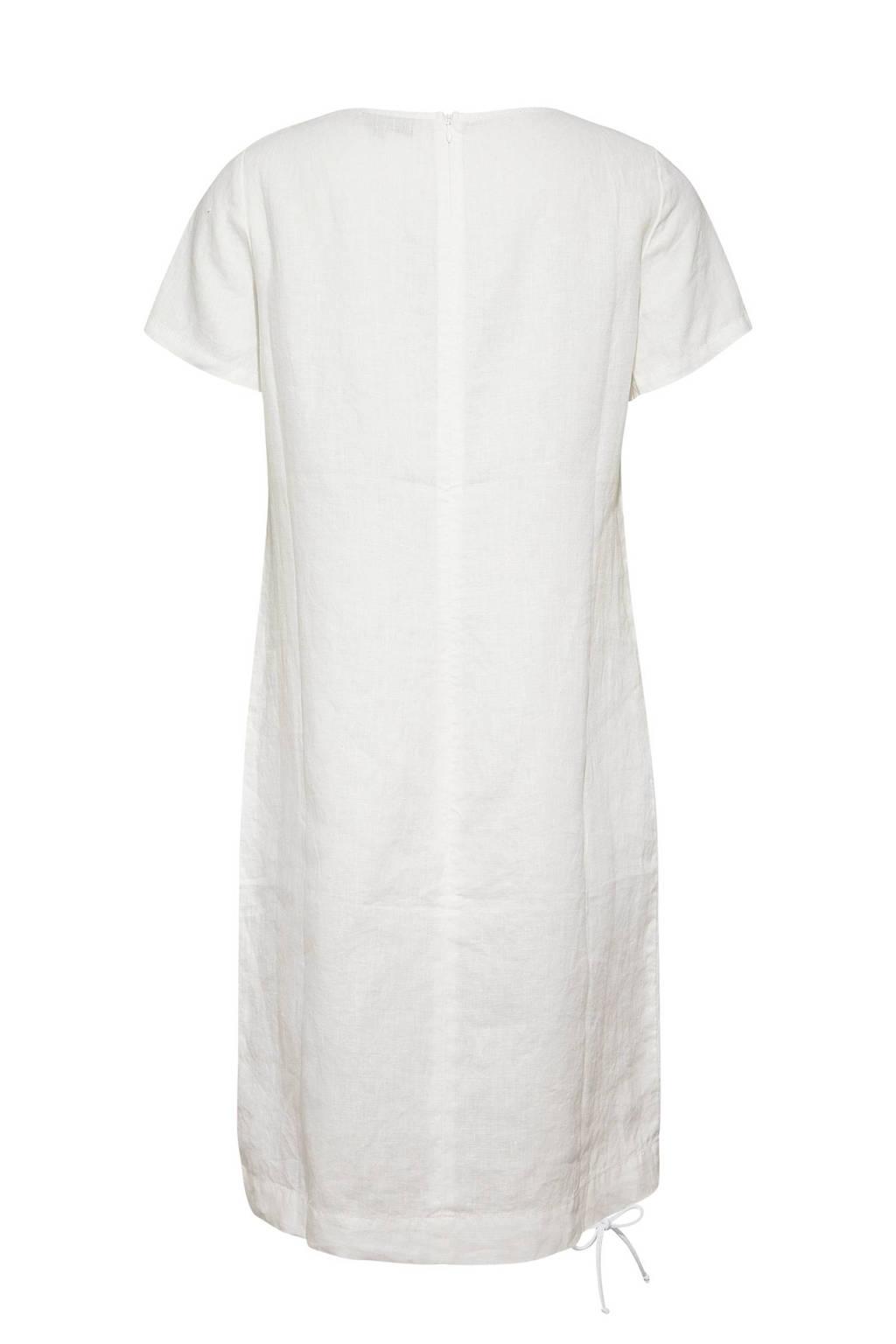 Fonkelnieuw Didi linnen A-lijn jurk wit | wehkamp ZG-12
