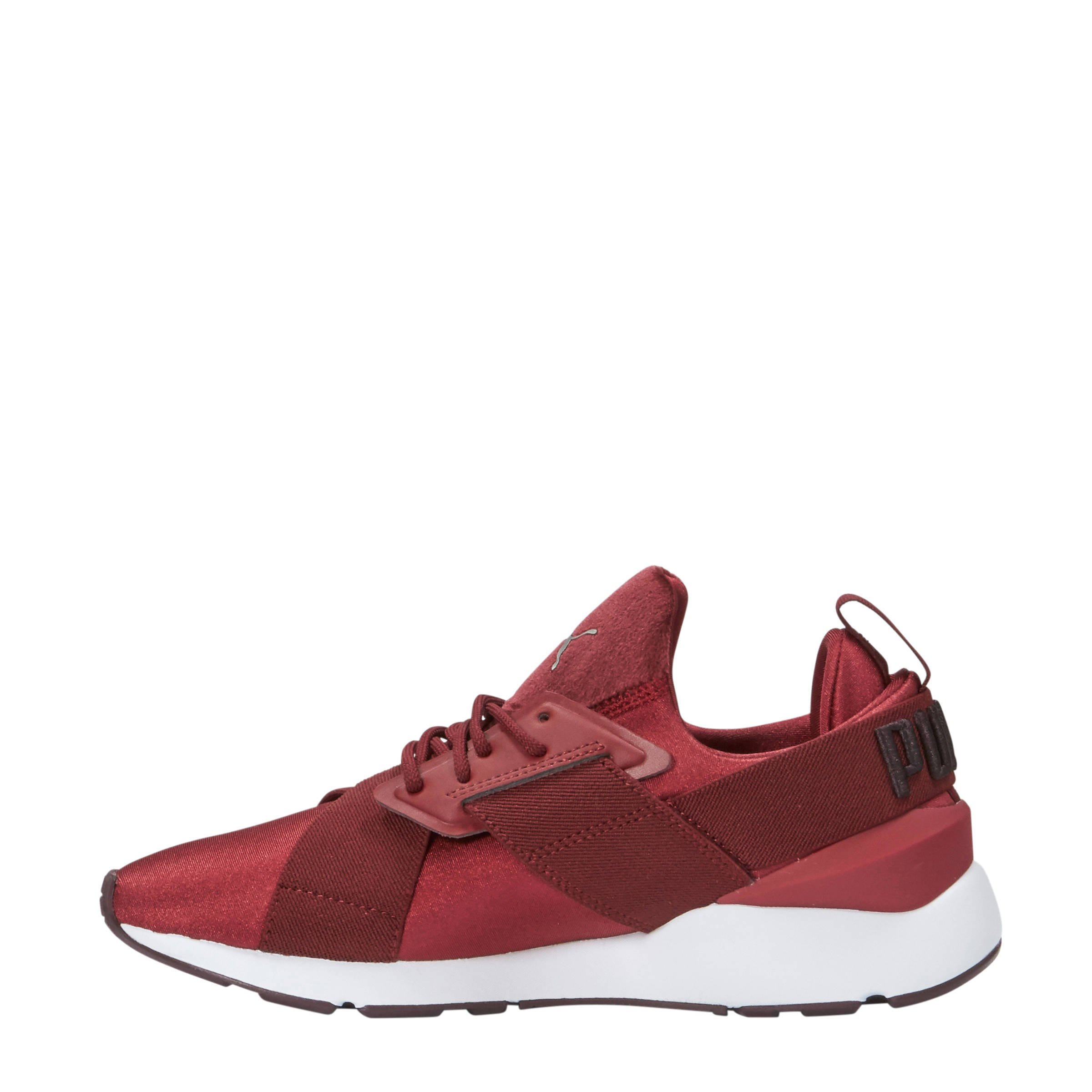 Muse Satin sneakers donkerrood