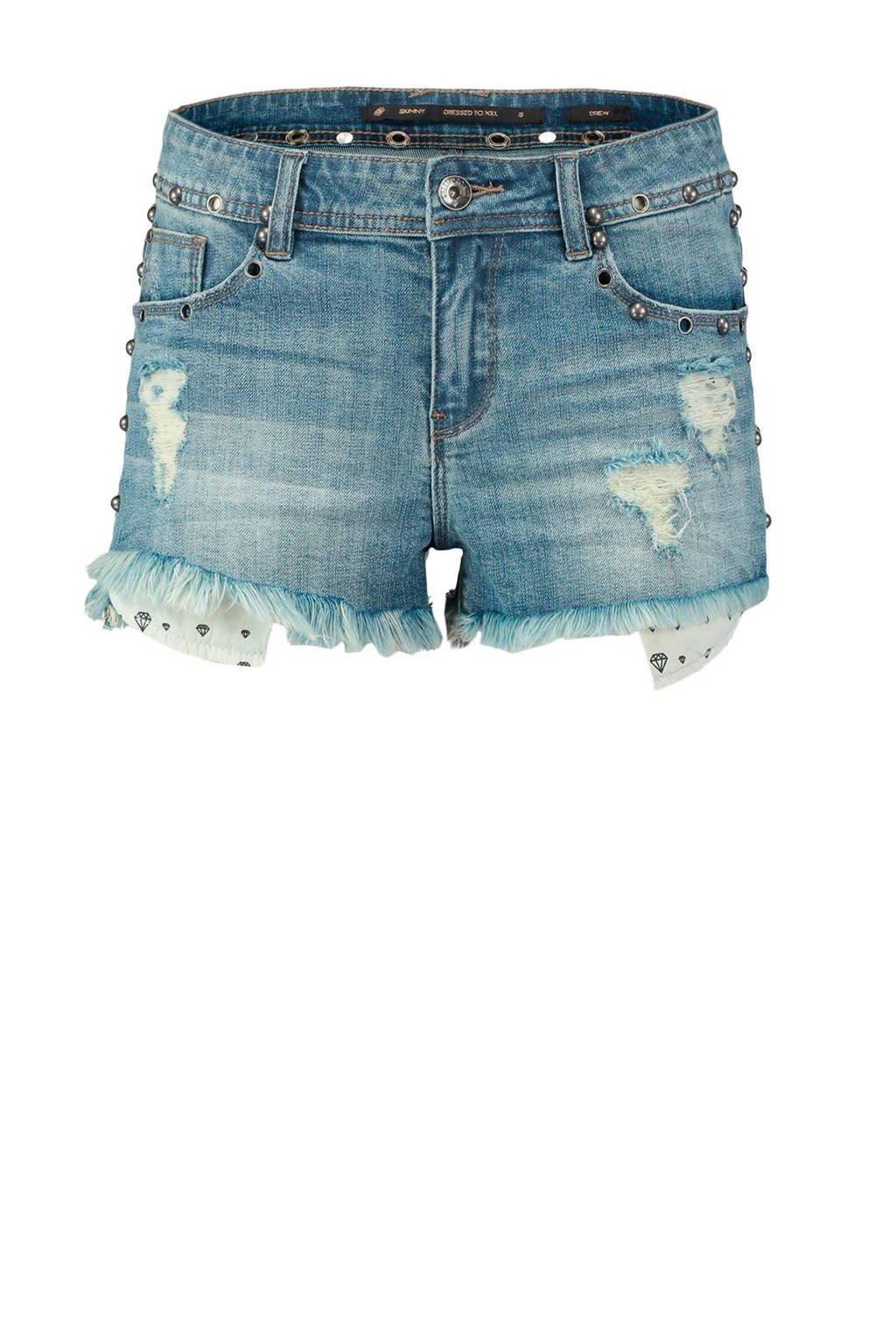 CoolCat jeans short met studs, Stonewashed