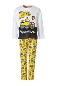 Minions pyjama wit/geel