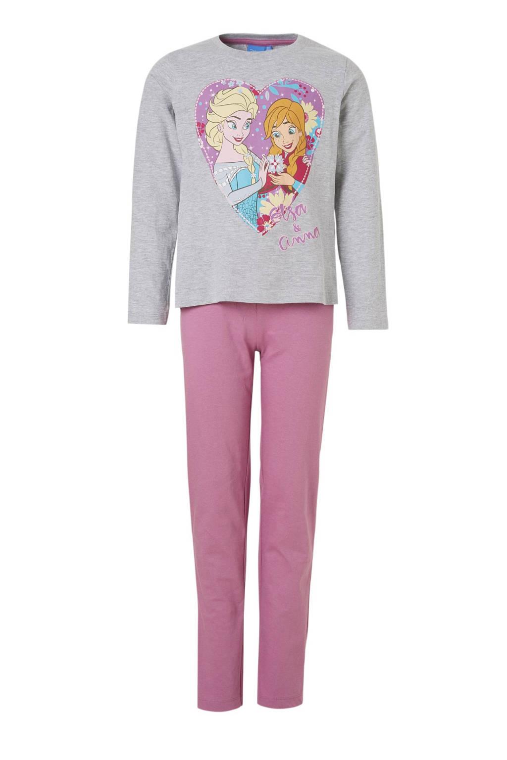 Frozen pyjama grijs/paars, Grijs/paars
