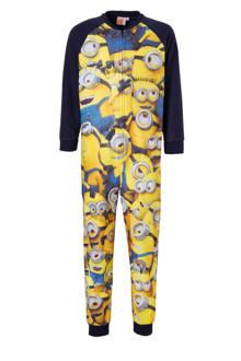 Minions onesie donkerblauw/geel