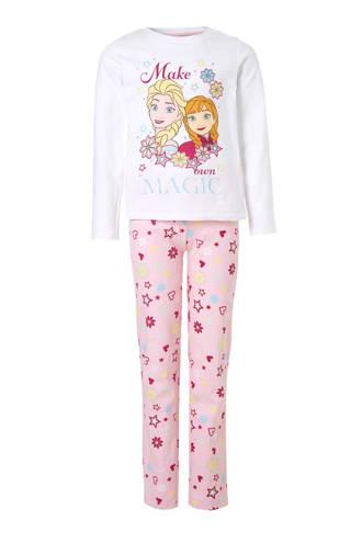Frozen pyjama wit/roze