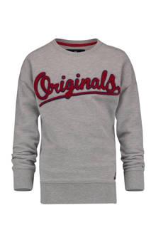 sweater Nef met tekst grijs