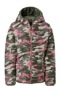 Vingino omkeerbare winterjas Tarianne met camouflageprint (meisjes)