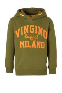 Vingino hoodie Nio met logo groen (jongens)