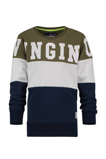 Vingino sweater Nathen blauw/kaki (jongens)
