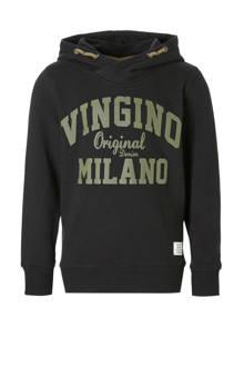 hoodie Nio met logo zwart