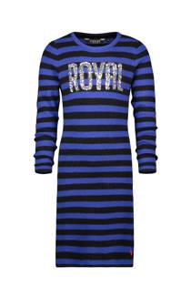Vingino gestreepte jurk Pria met pailletten blauw/zwart
