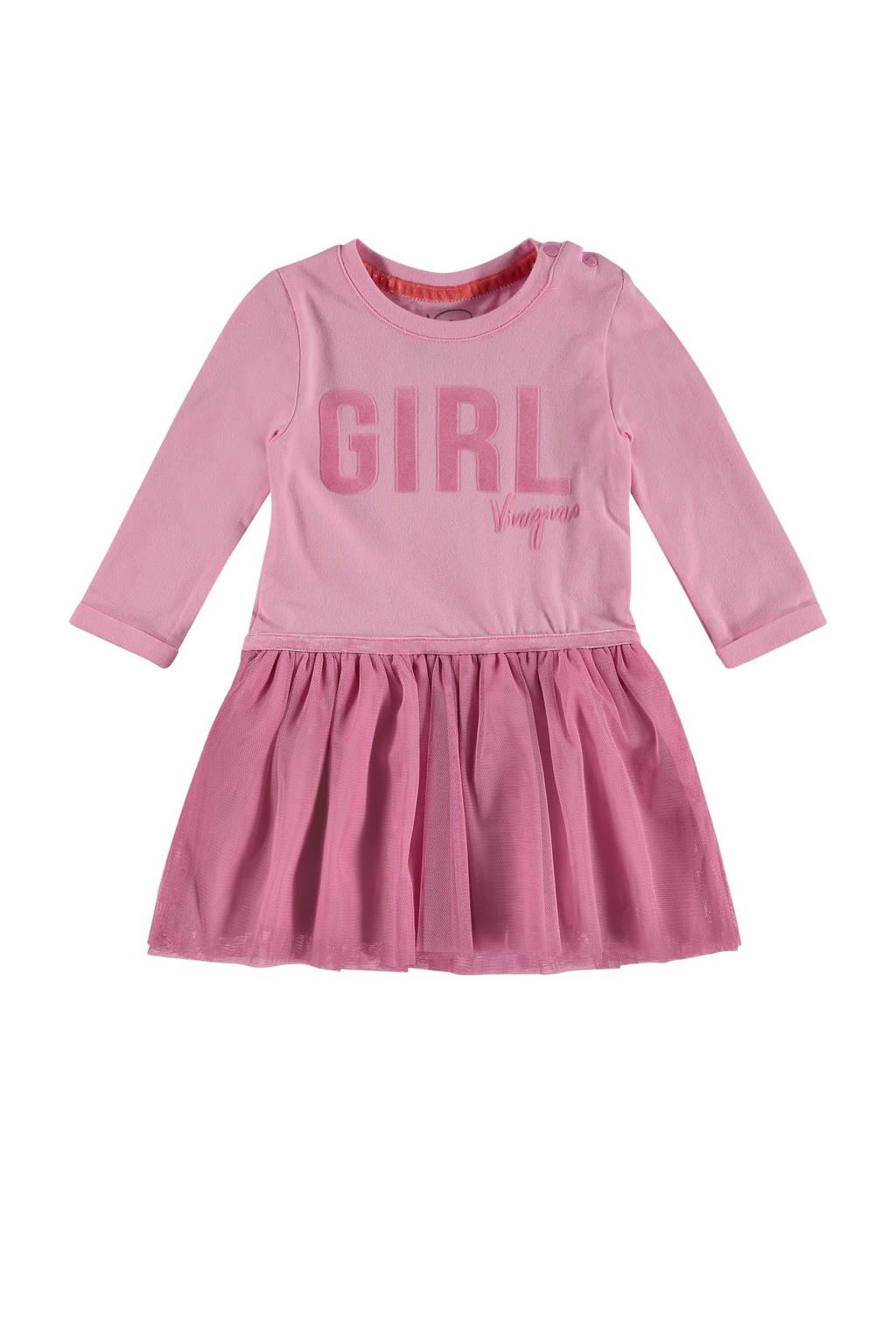 Vingino jurk Pasia met tule roze, Roze