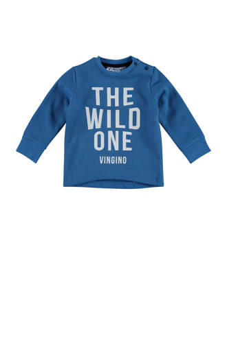 sweater Nykle met tekst blauw