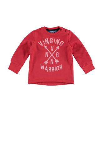 sweater Nykle met logo rood