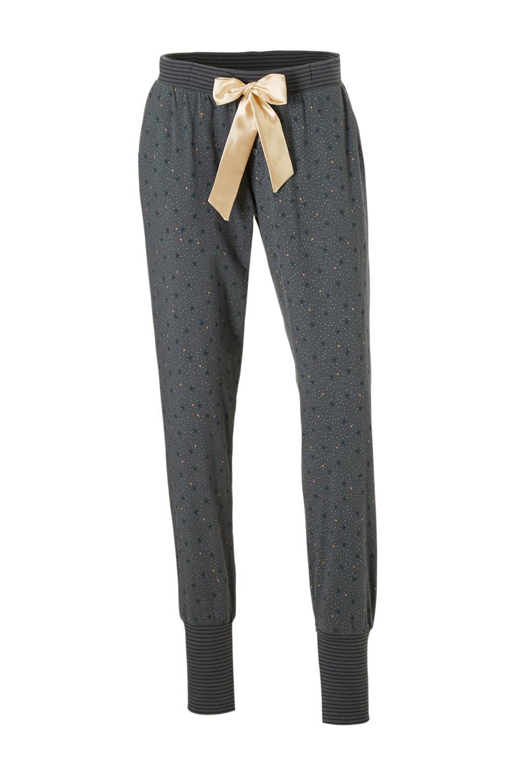 Charlie Choe pyjamabroek met all over print grijs, Grijsblauw