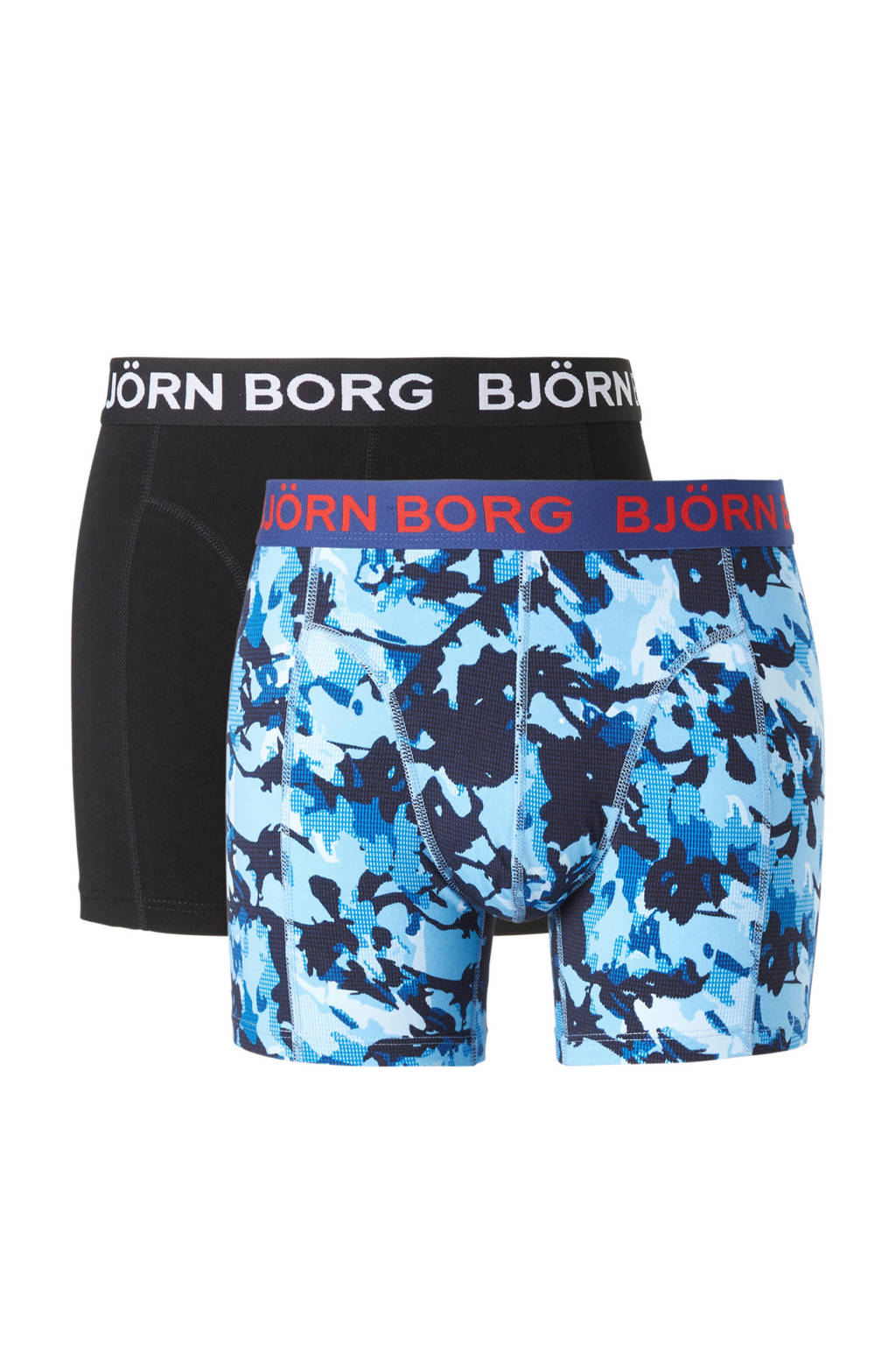 Björn Borg boxershort (set van 2), Donkerblauw/zwart