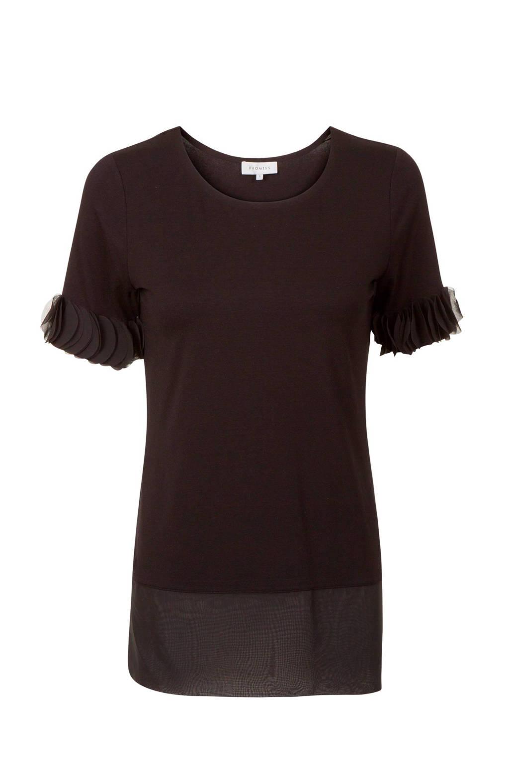 Promiss T-shirt zwart, Zwart