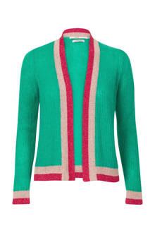 vest met glitters groen