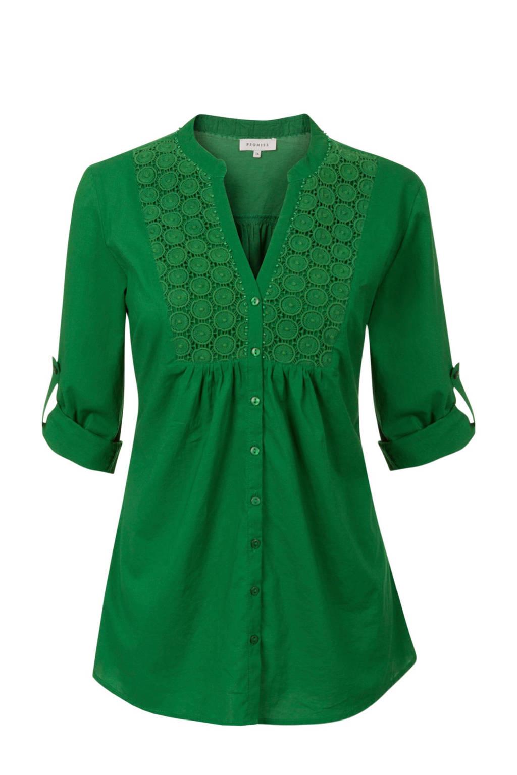 Promiss blouse groen, Groen