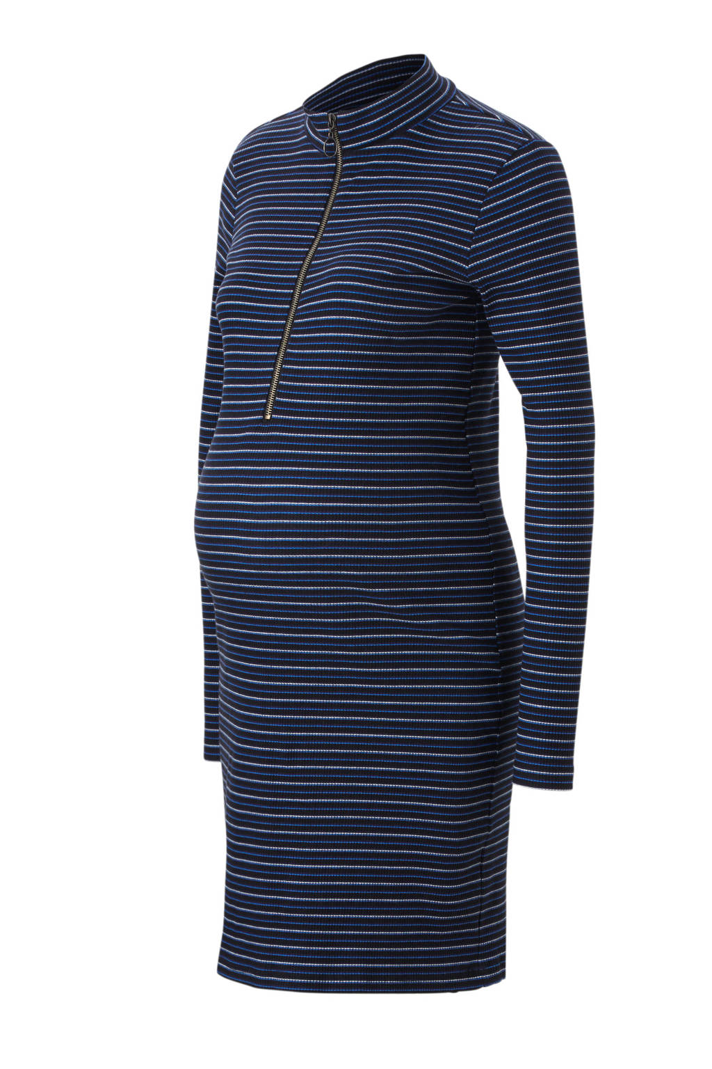MAMA-LICIOUS jurk met streepdessin, Zwart