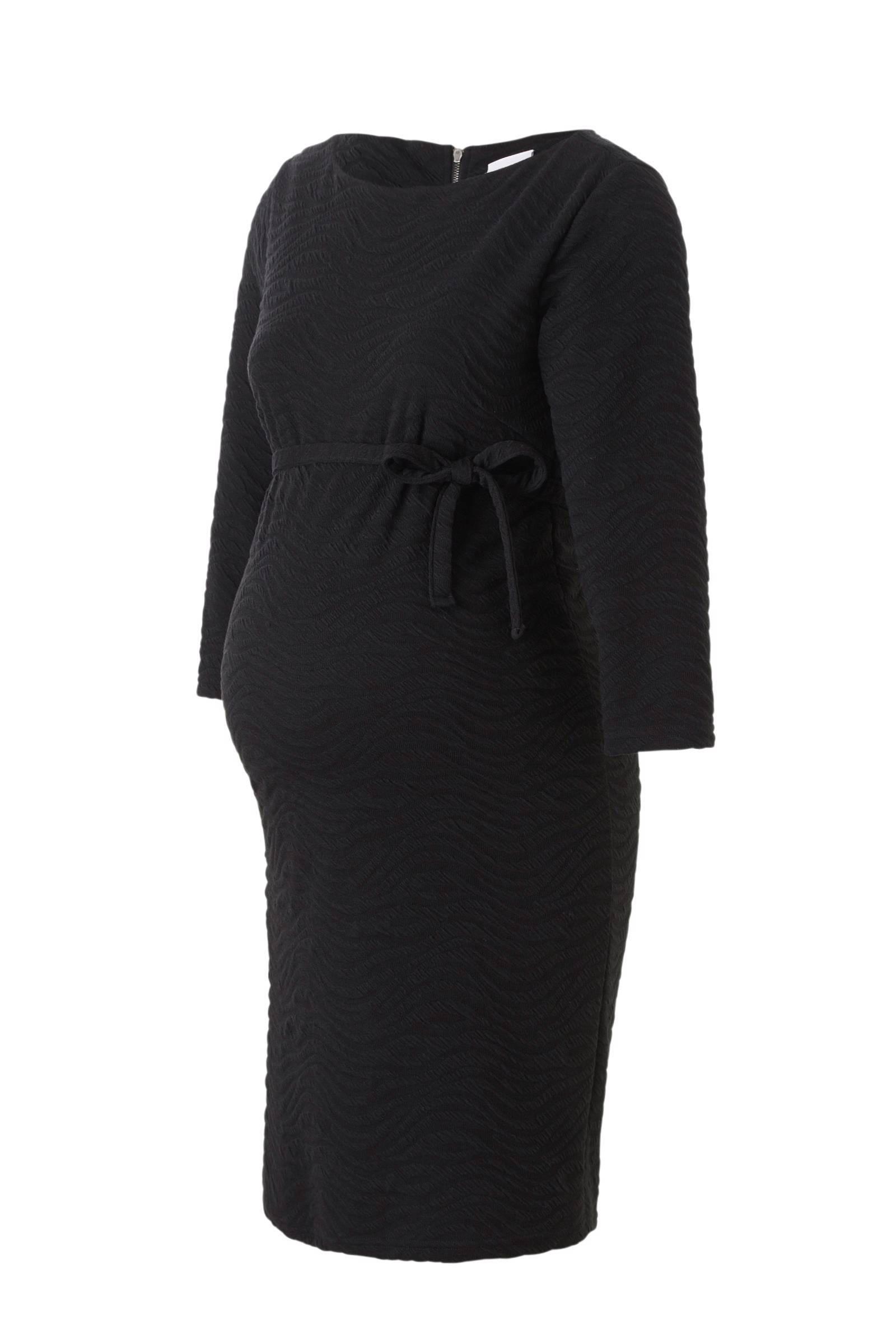 MAMA-LICIOUS positie jurk met reliëf