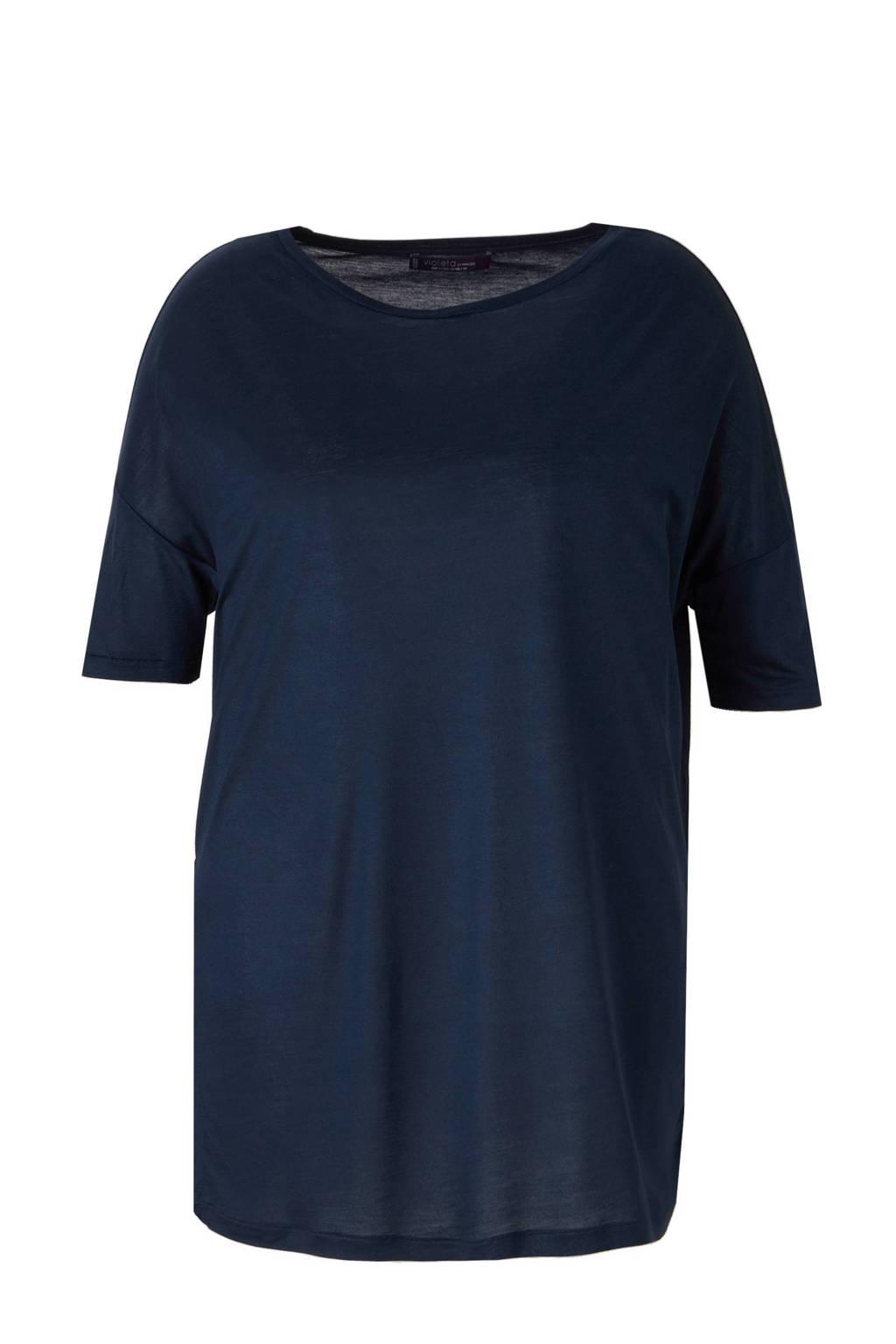 Violeta by Mango T-shirt marineblauw, Marineblauw