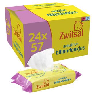 Sensitive billendoekjes - 24x57 stuks - voordeelverpakking - baby