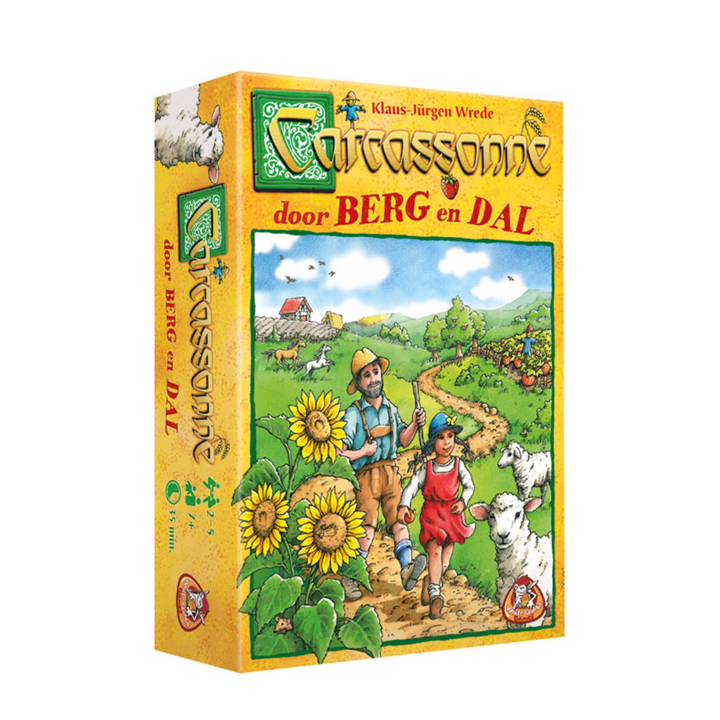 White Goblin Games Carcassonne: Door Berg en Dal bordspel