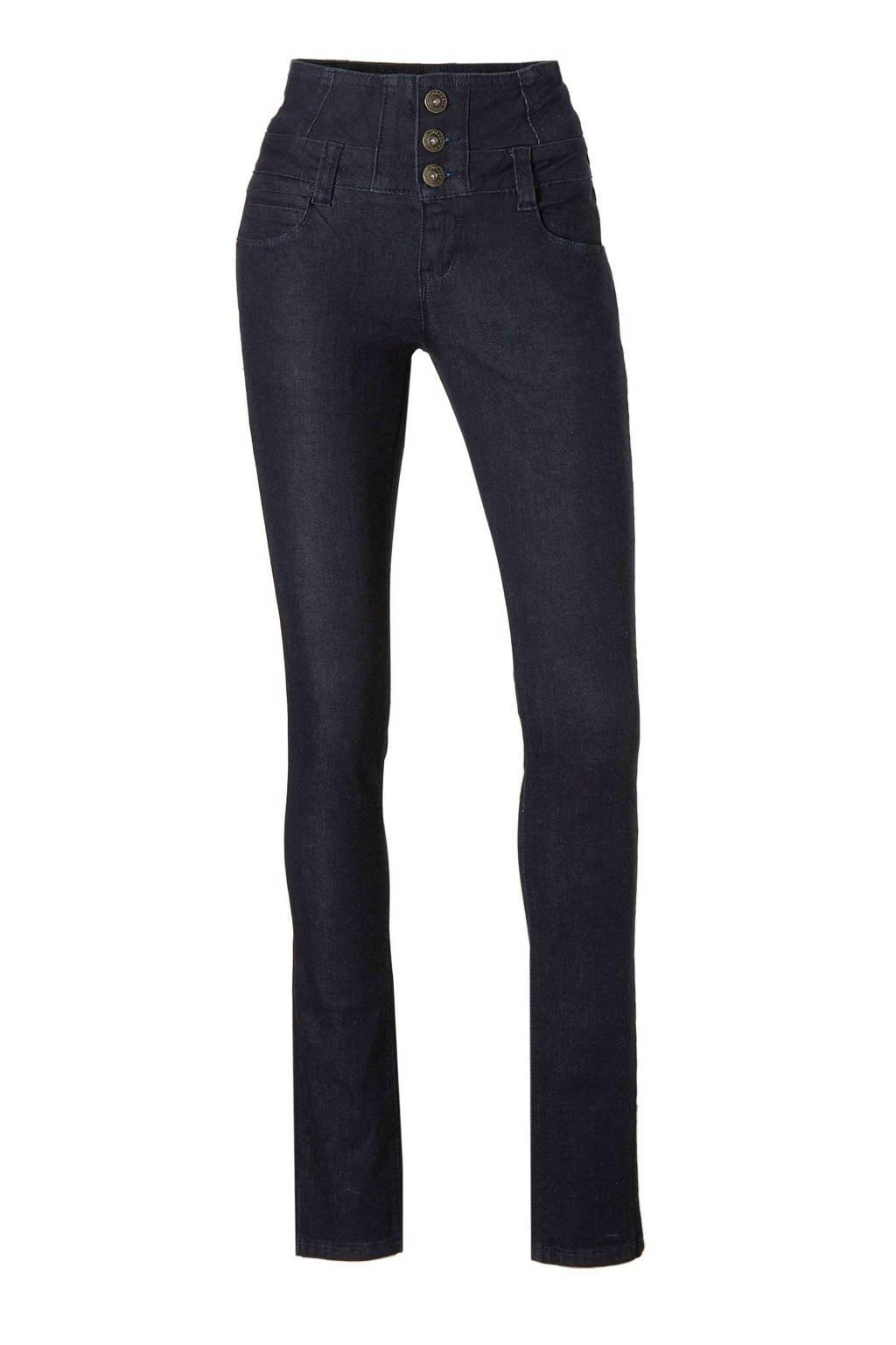 Il Dolce high waist skinny jeans dark blue, Dark Blue