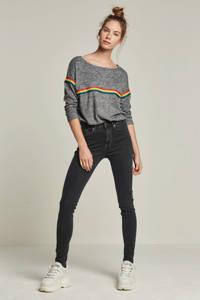 Il Dolce high waist skinny jeans zwart/grijs, Zwart/grijs