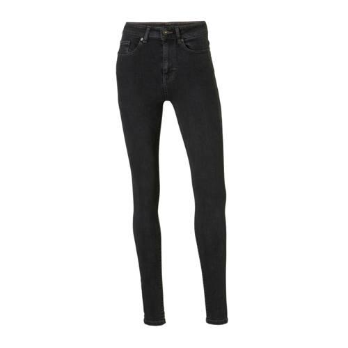 Il Dolce high waist skinny jeans zwart/grijs