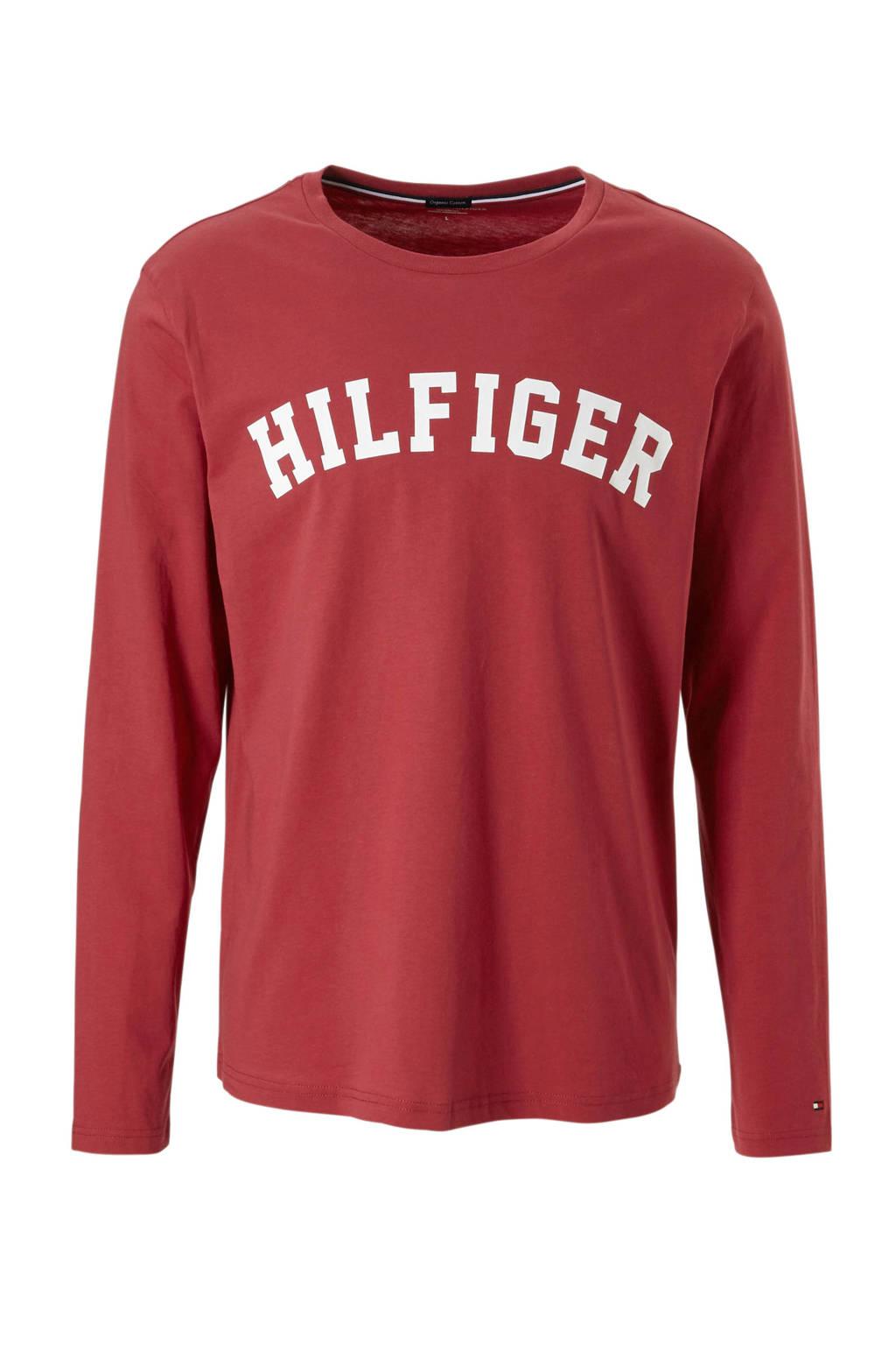 Tommy Hilfiger T-shirt met printopdruk rood, Rood/wit