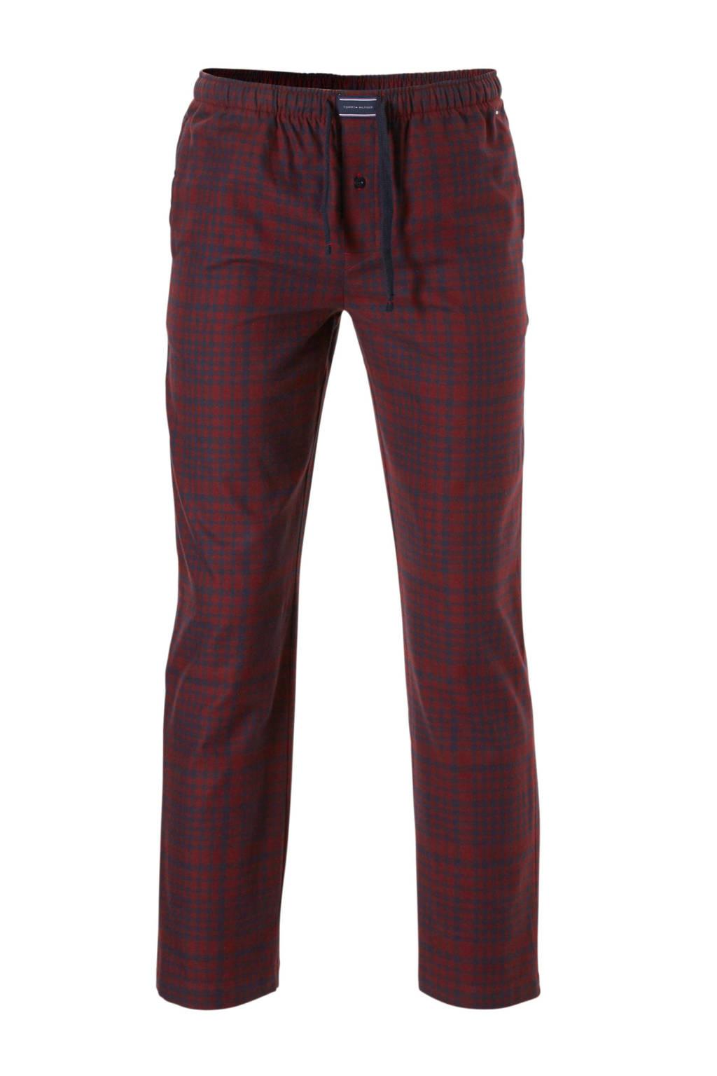 Tommy Hilfiger pyjamabroek geruit flanel, Rood/marine