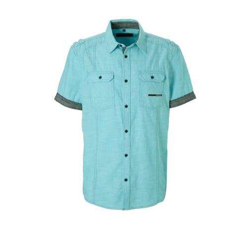 regular fit overhemd mintgroen