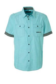 Angelo Litrico regular fit overhemd mintgroen