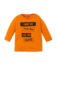 BABY newborn longsleeve Napin oranje