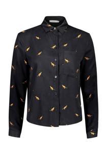 Sissy-Boy blouse met kangoeroeprint zwart (dames)