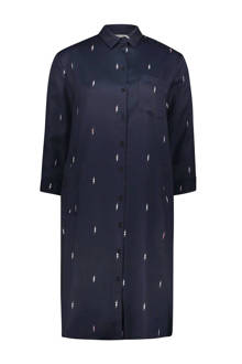 blousejurk met borduursels marine