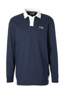 Tommy Jeans regular fit polo donkerblauw