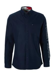 Tommy Jeans regular fit overhemd marine (heren)