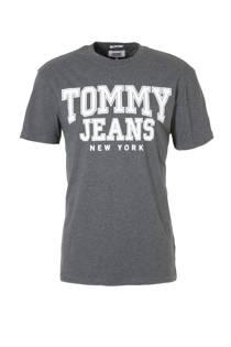 Tommy Jeans T-shirt met tekst grijs