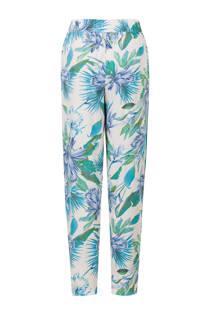 Miss Etam Regulier straight fit broek met bloemen blauw
