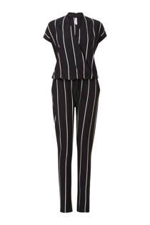 Miss Etam Lang gestreepte jumpsuit zwart (dames)