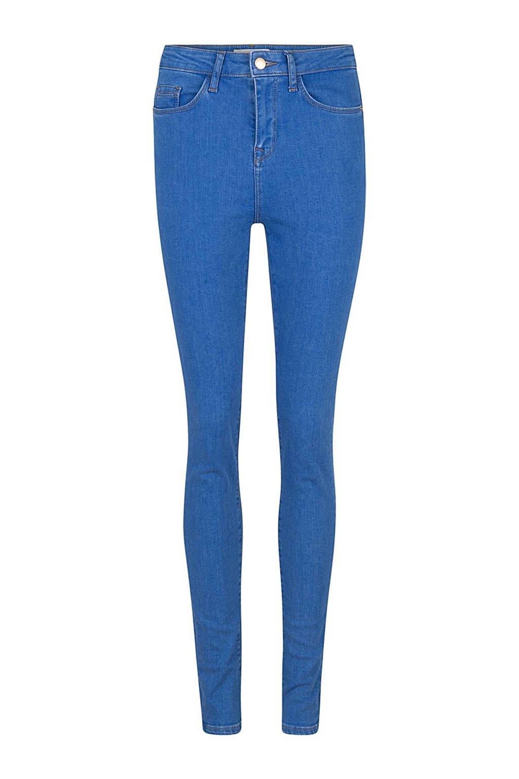WE Fashion Blue Ridge high waisted skinny fit jeans, Helder blauw