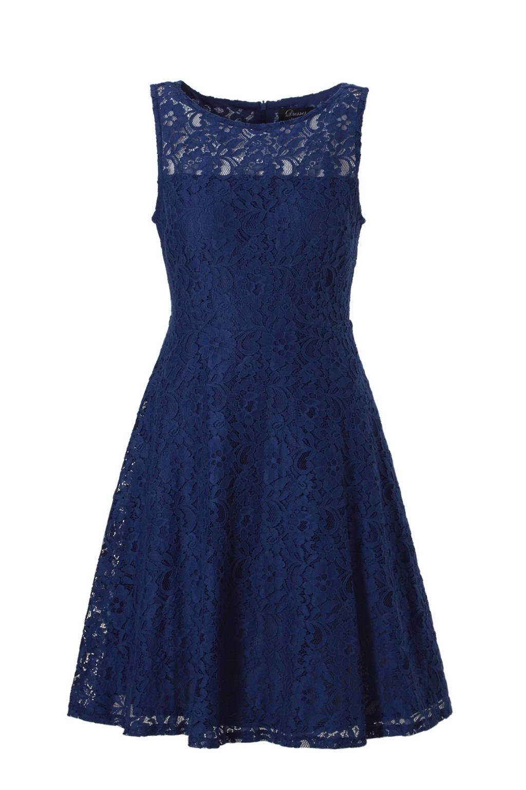Beste C&A Yessica kanten jurk blauw   wehkamp SL-95