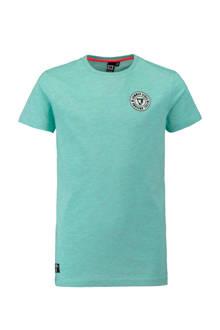 T-shirt met print turquoise