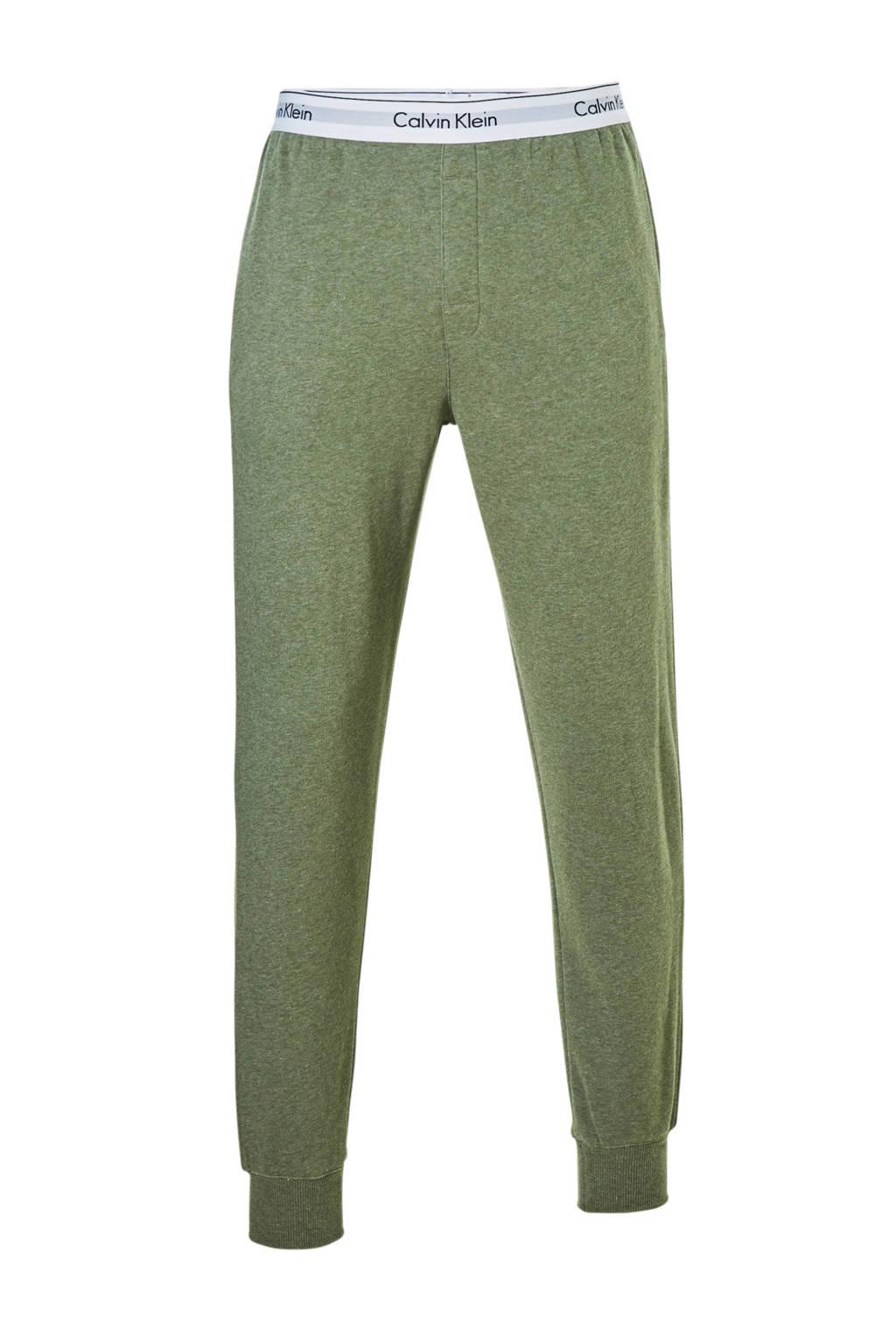 Calvin Klein sweatpants groen mêlee, Groen mêlee